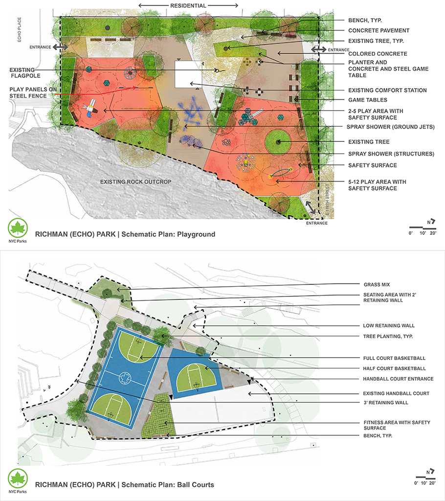 Design of Echo Park Playground and Basketball Courts Reconstruction