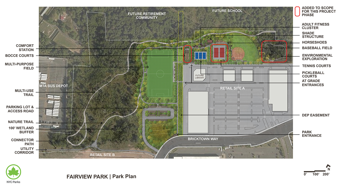 Design of Fairview Park Multi-Purpose Field and Landscape Construction
