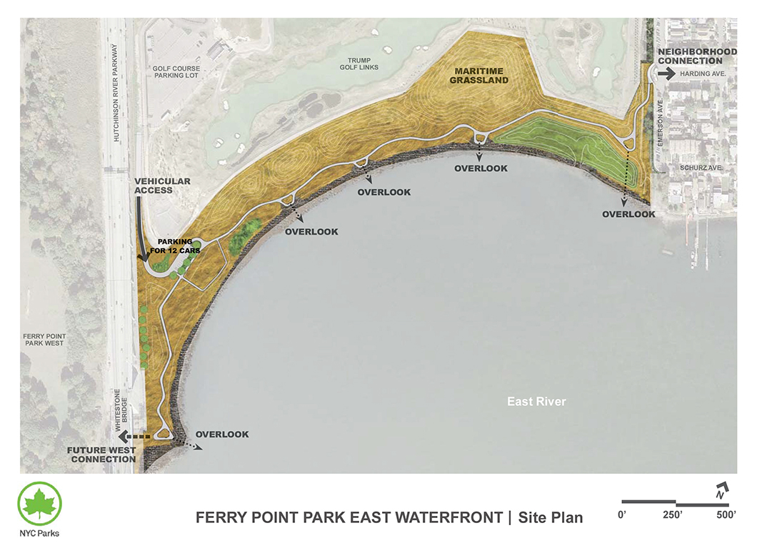 Design of Ferry Point Park Passive Waterfront Path and Landscape Construction