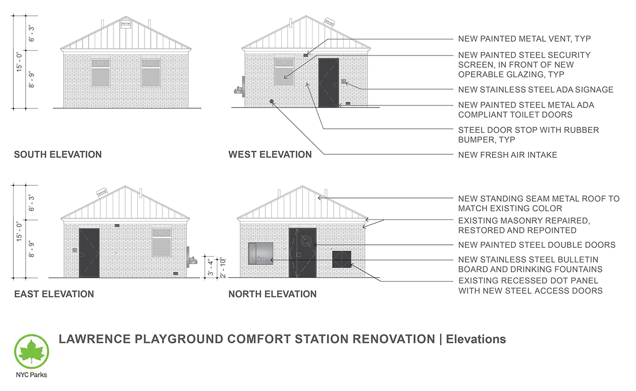Design of Flushing Meadows Corona Park Lawrence Playground Comfort Station Reconstruction