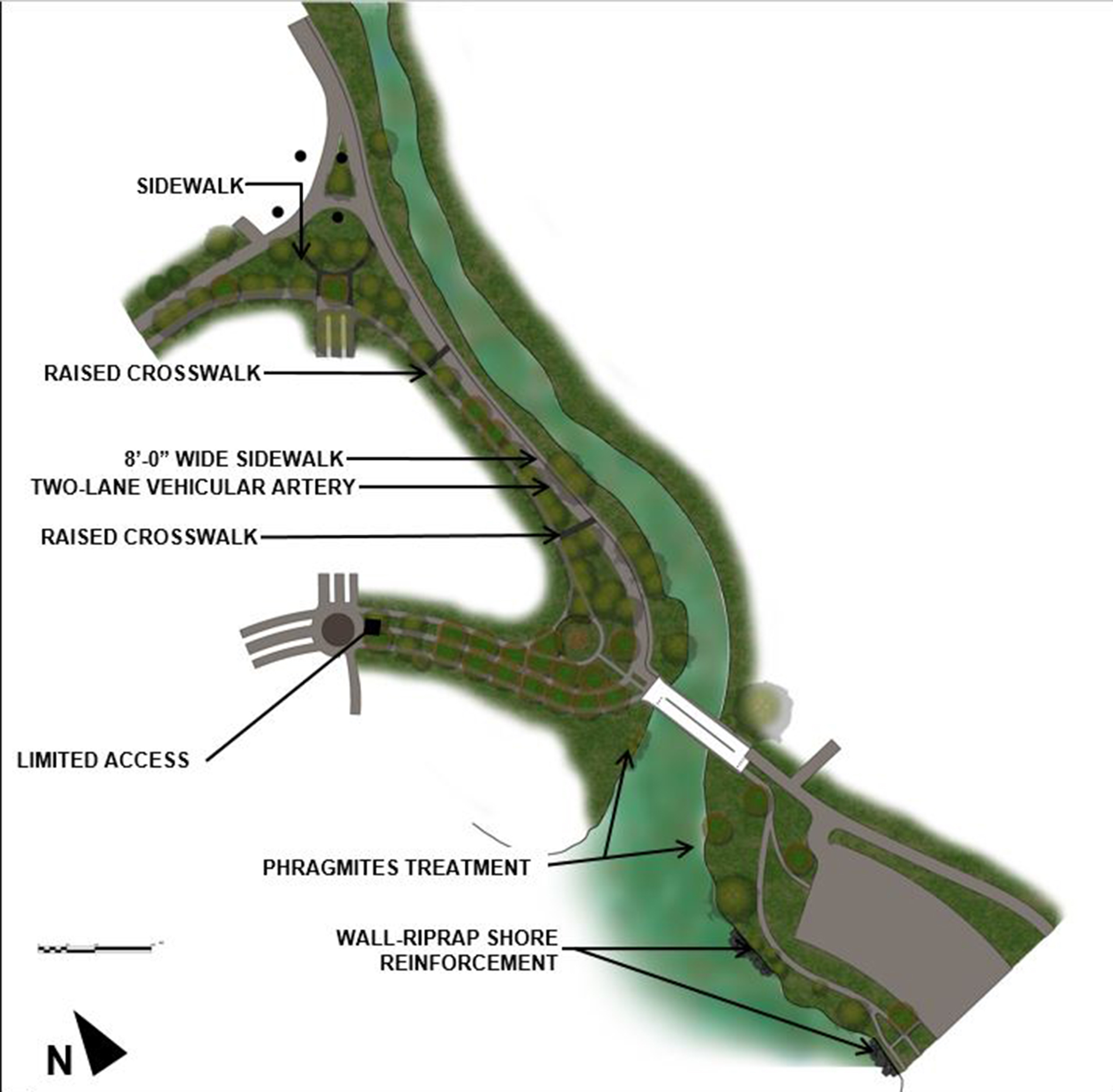 Design of Flushing Meadows Corona Park Meadow Lake Promenade Reconstruction