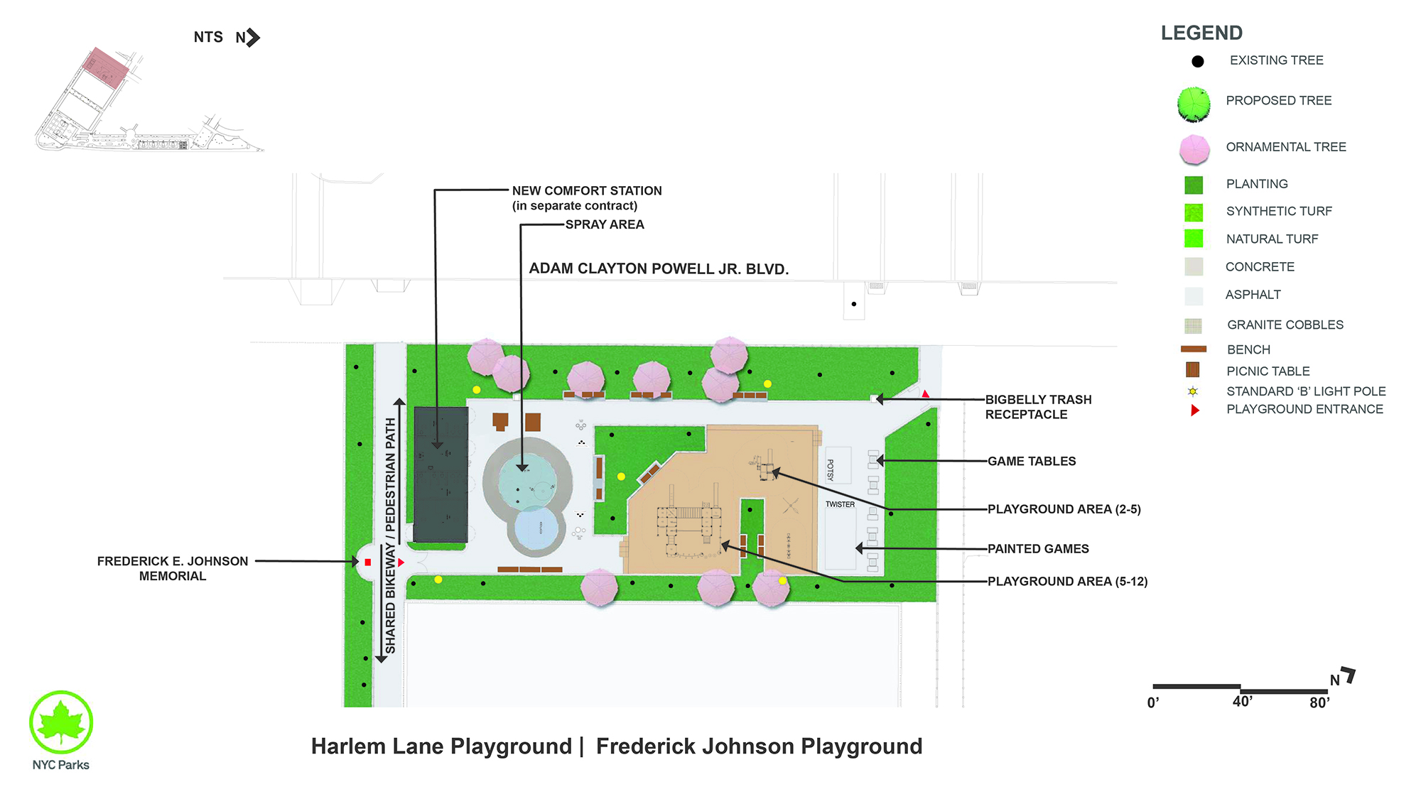 Design of Frederick Johnson Playground Play Area Reconstruction