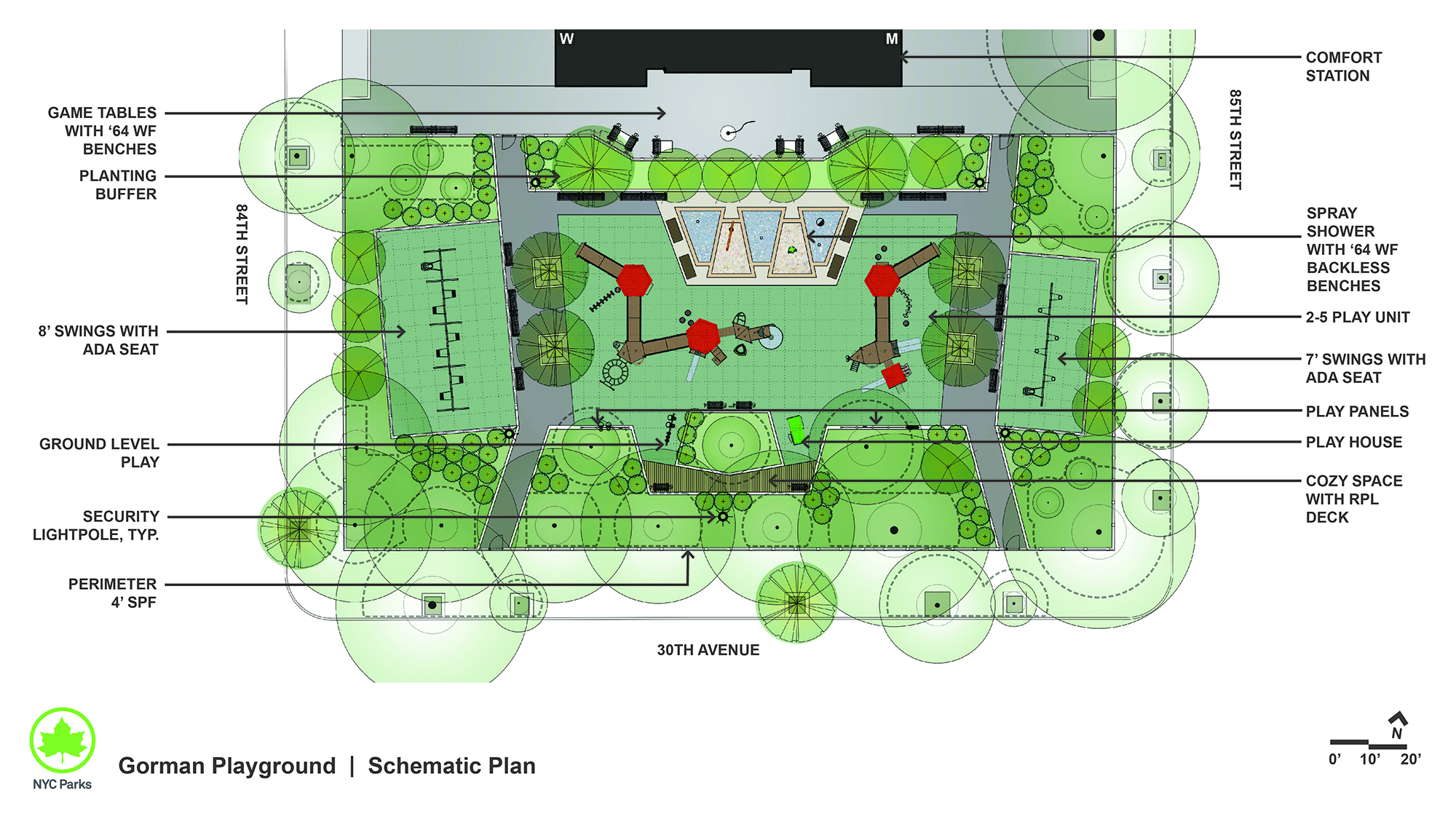 Design of Gorman Playground Reconstruction