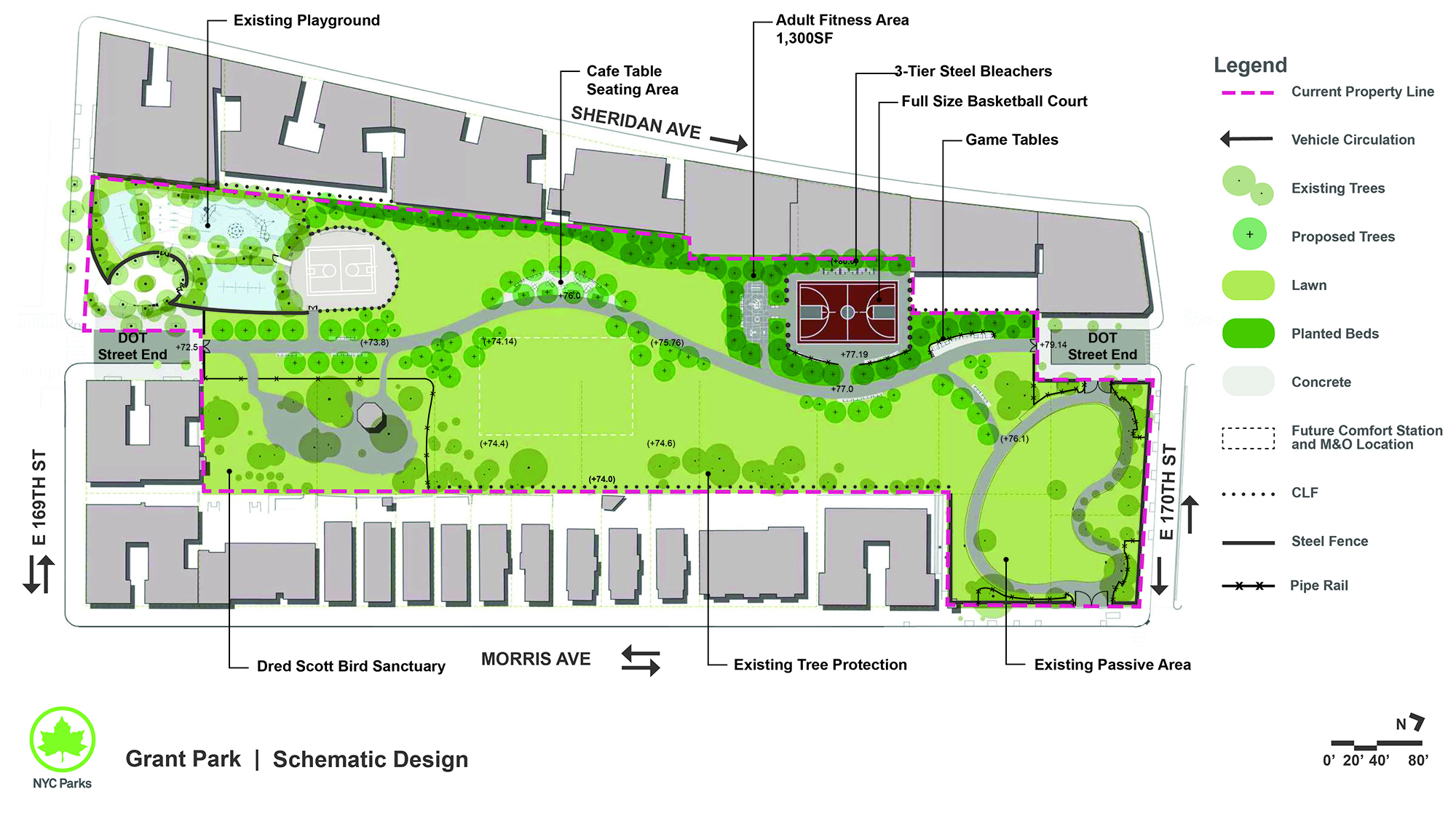 Design of Grant Park Construction