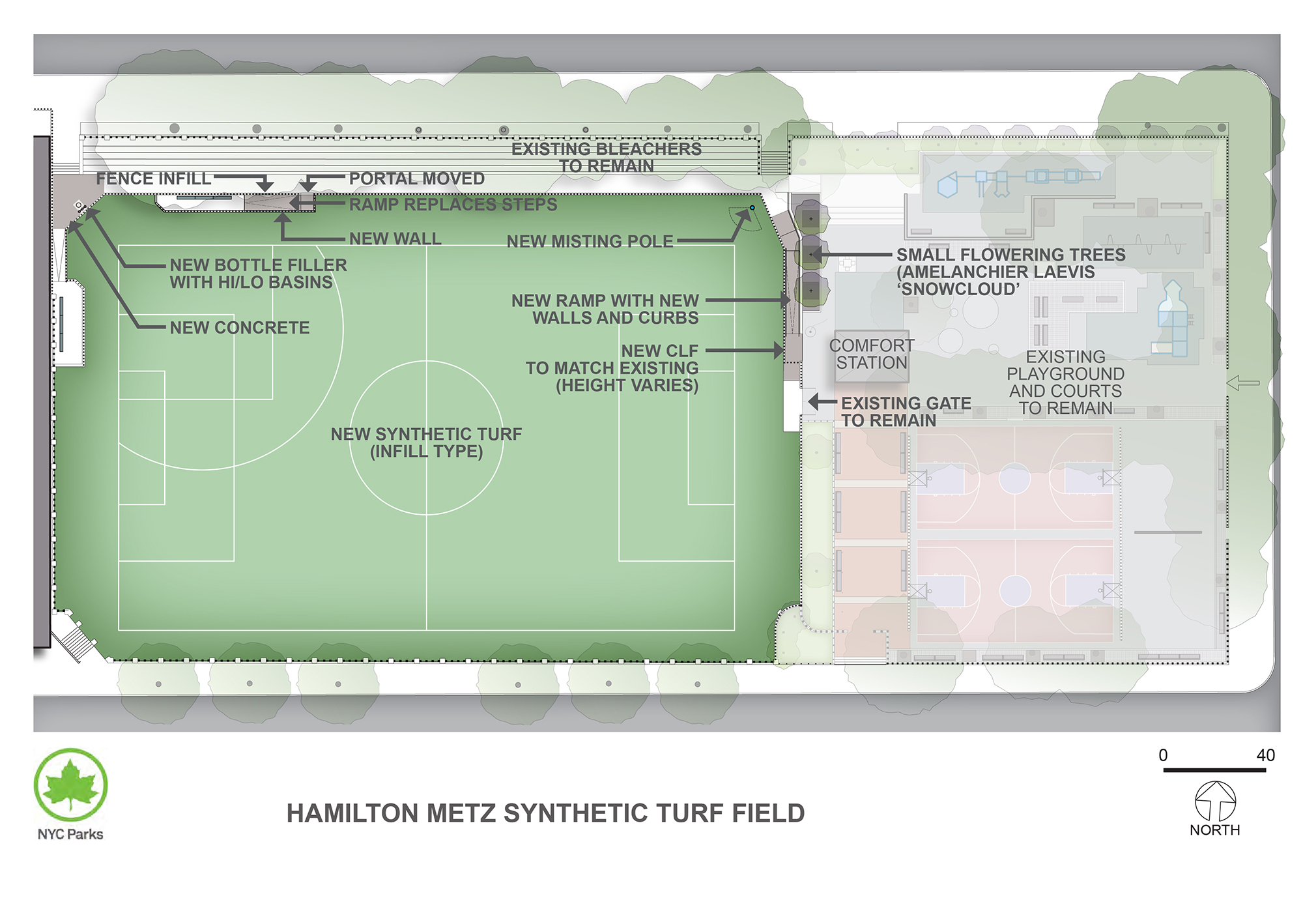 Design of Hamilton-Metz Field Synthetic Turf Field Reconstruction