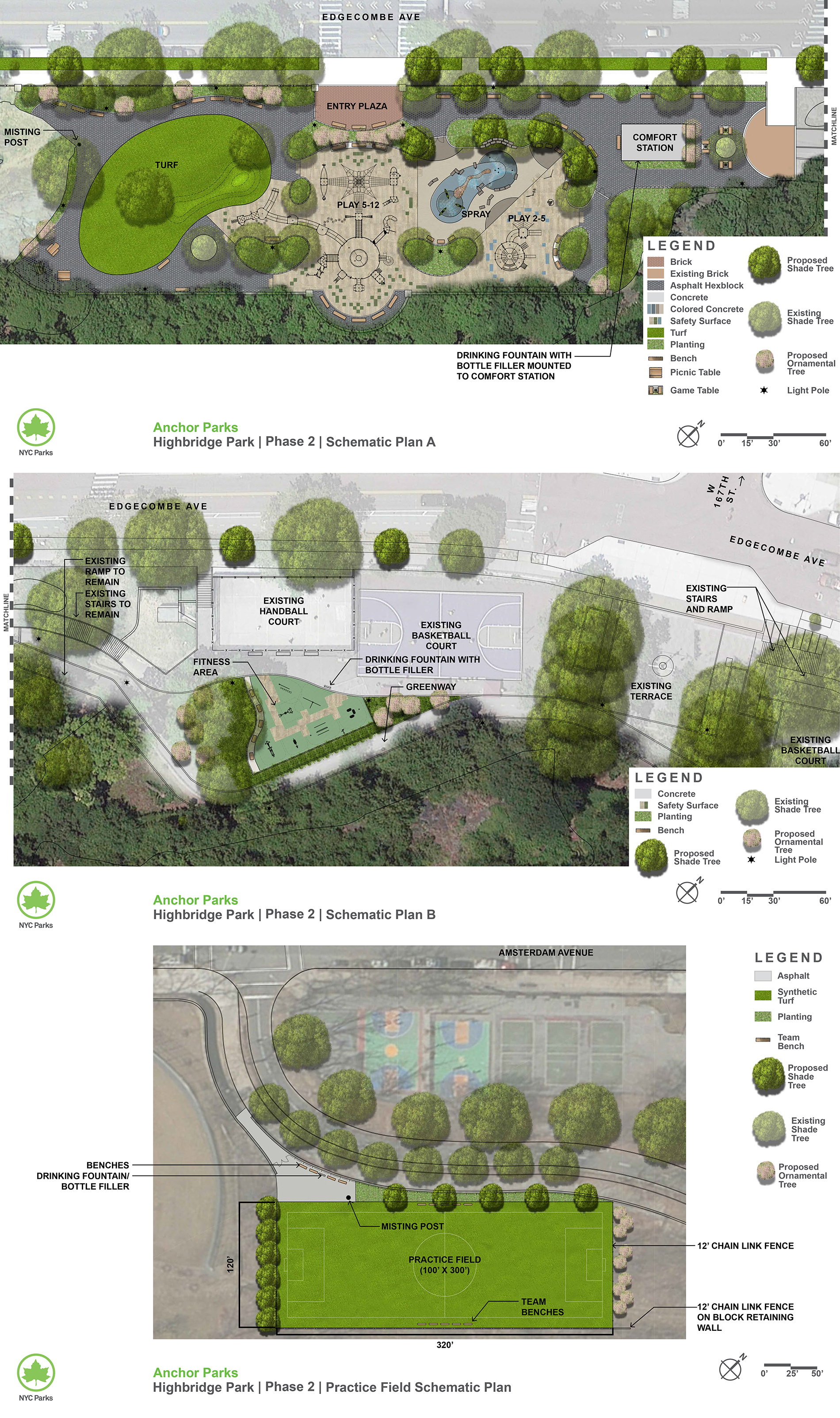 Design of Highbridge Anchor Park Reconstruction Phase II