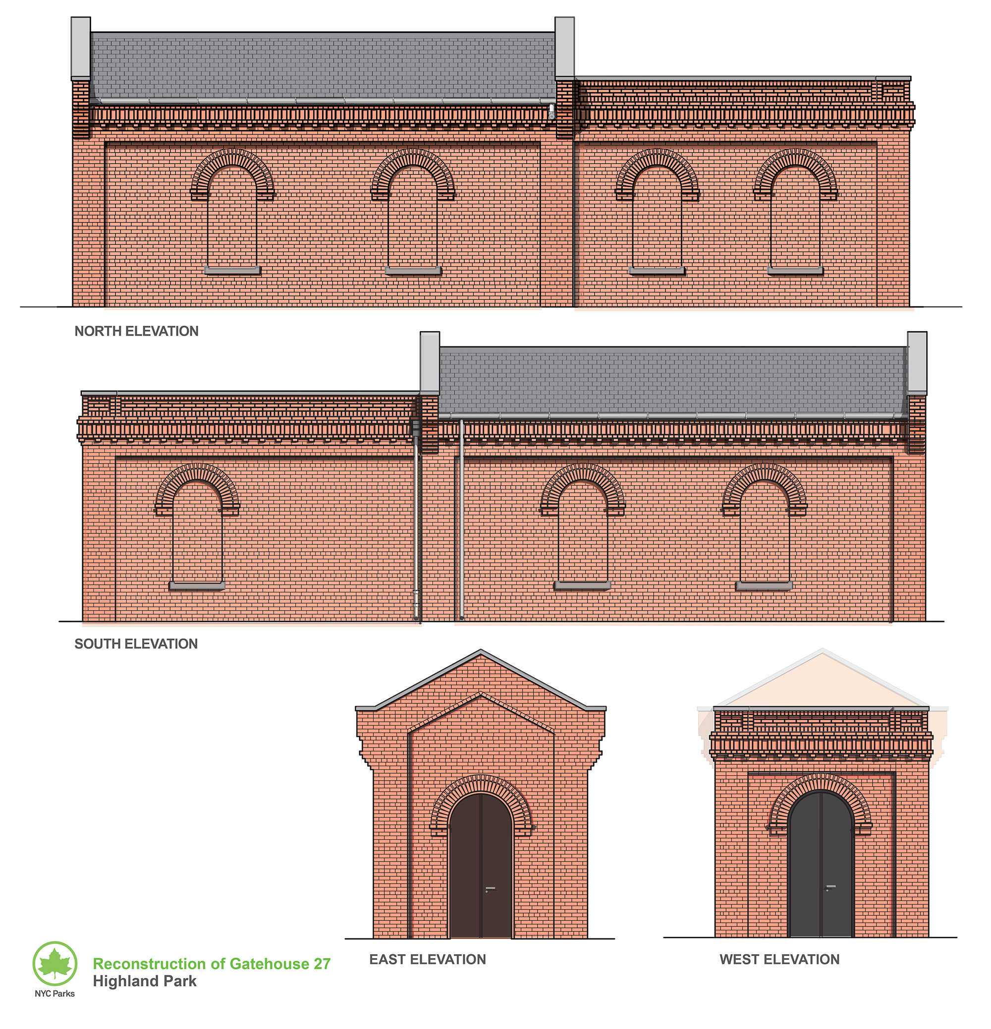 Design of Highland Park Ridgewood Reservoir Gatehouse 27 Reconstruction
