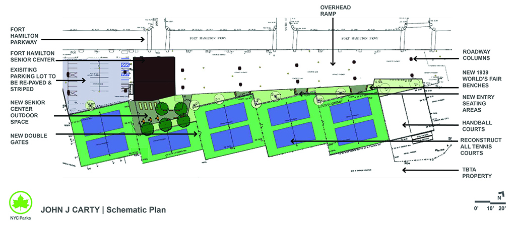 Design of John J Carty Park Tennis Courts Reconstruction