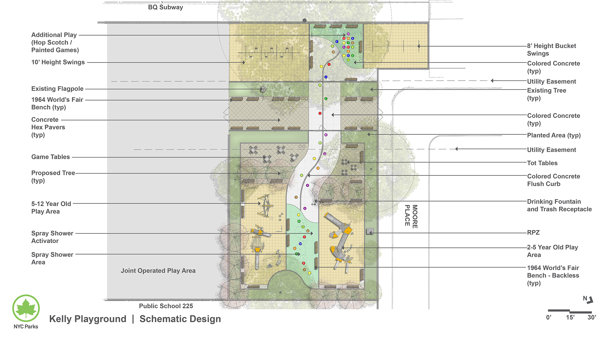 Design of Kelly Playground Reconstruction