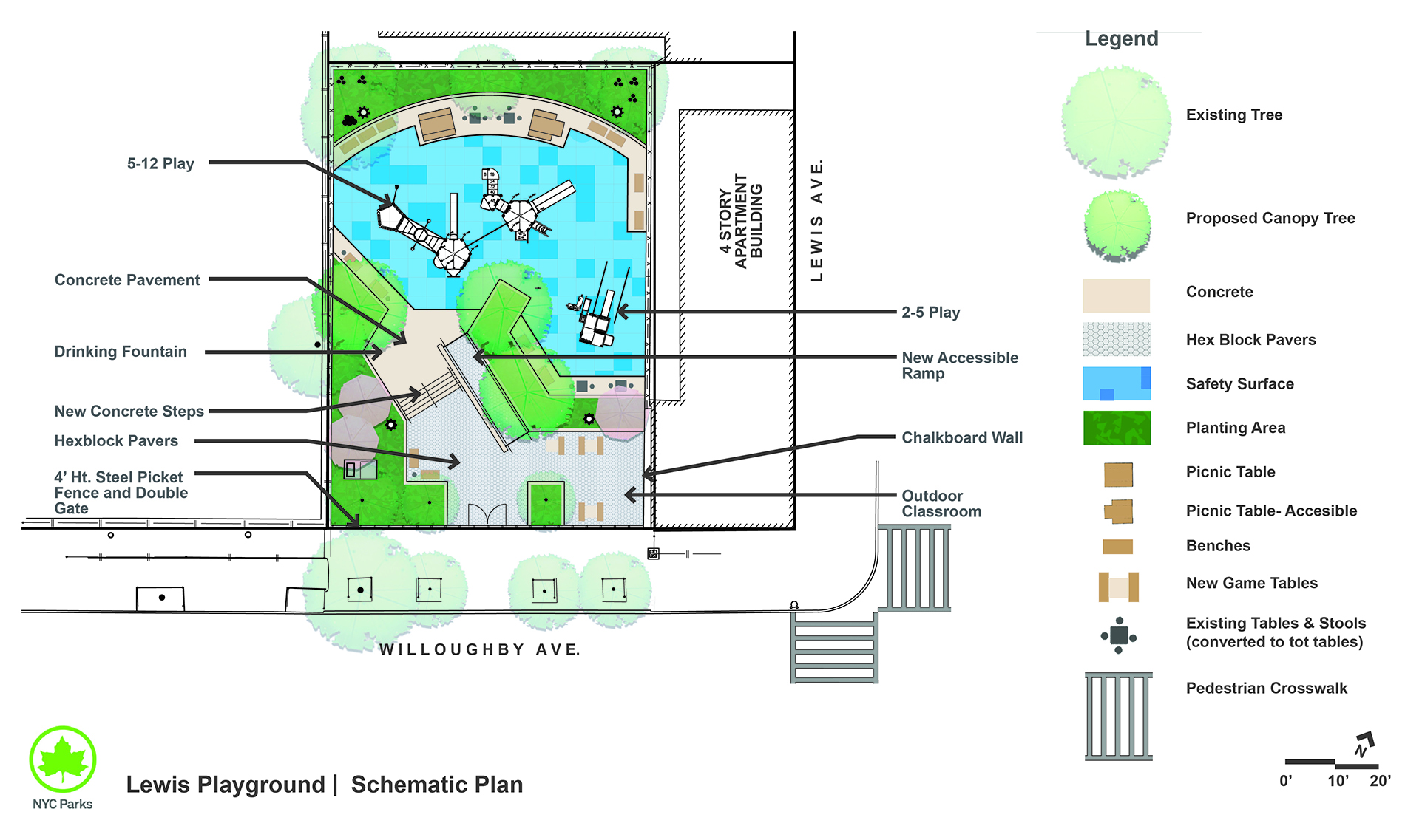 Design of Lewis Playground Reconstruction