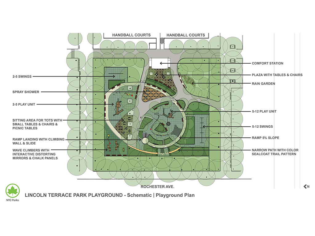 Design of Lincoln Terrace Park Playground Reconstruction