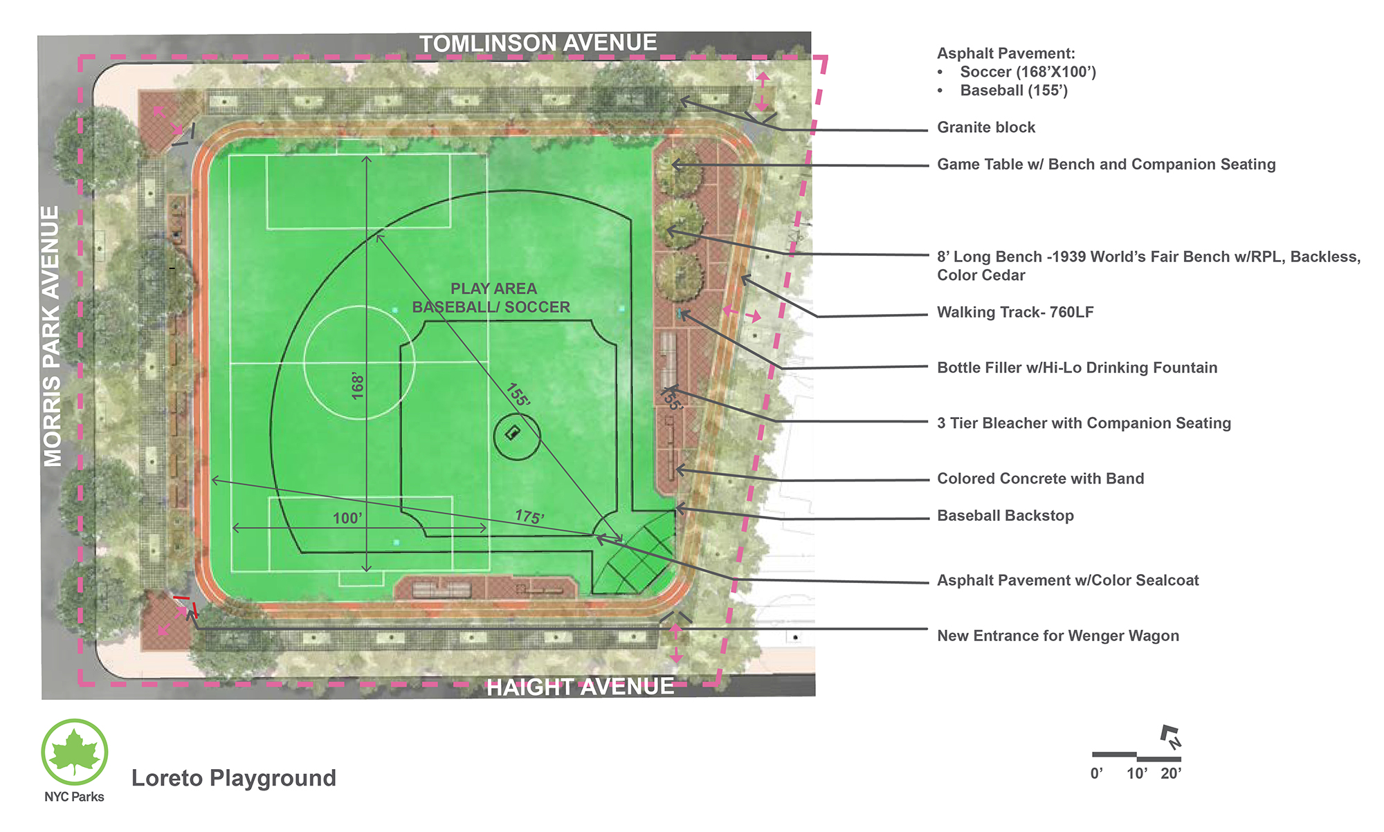 Design of Loreto Playground Asphalt Multi-Purpose Play Area Construction
