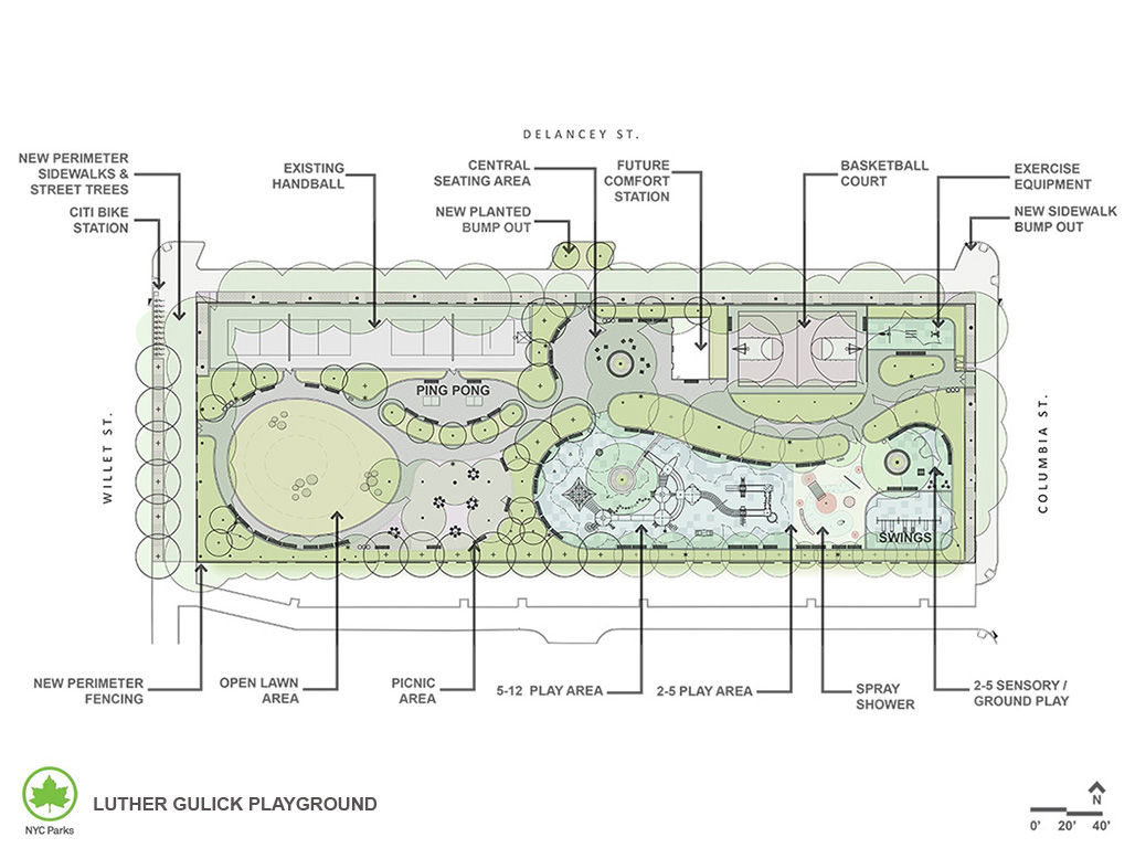 Design of Luther Gulick Park Reconstruction