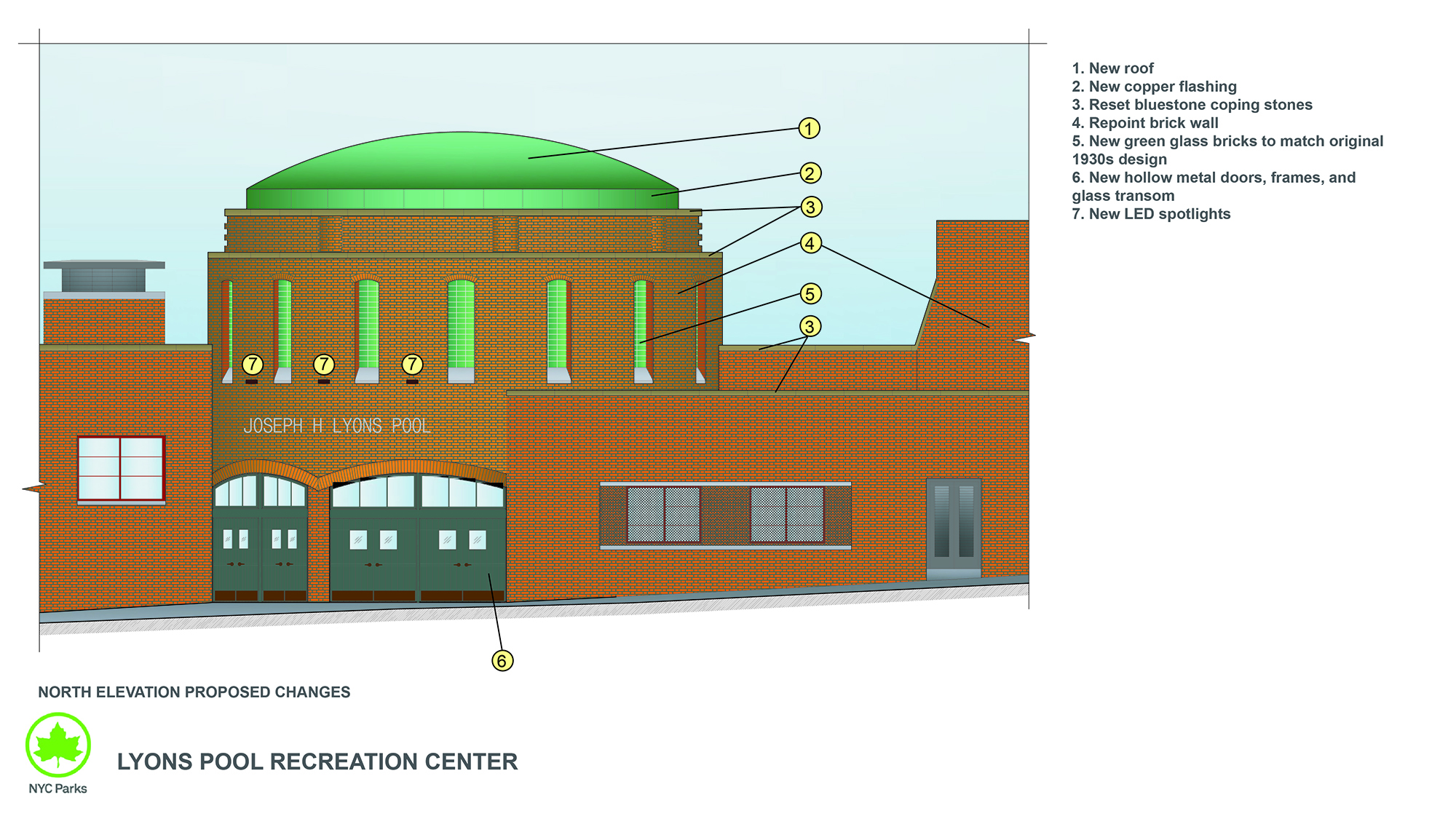 Design of Lyons Recreation Center Reconstruction