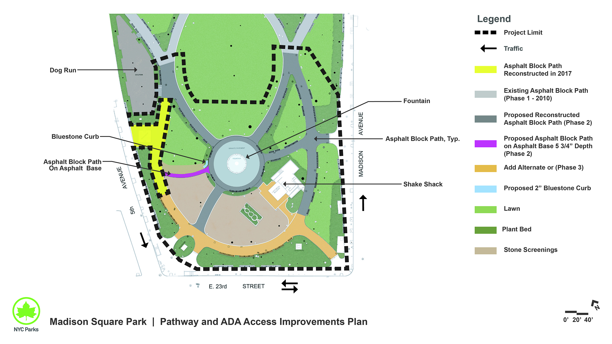 Design of Madison Square Park Pavement Reconstruction