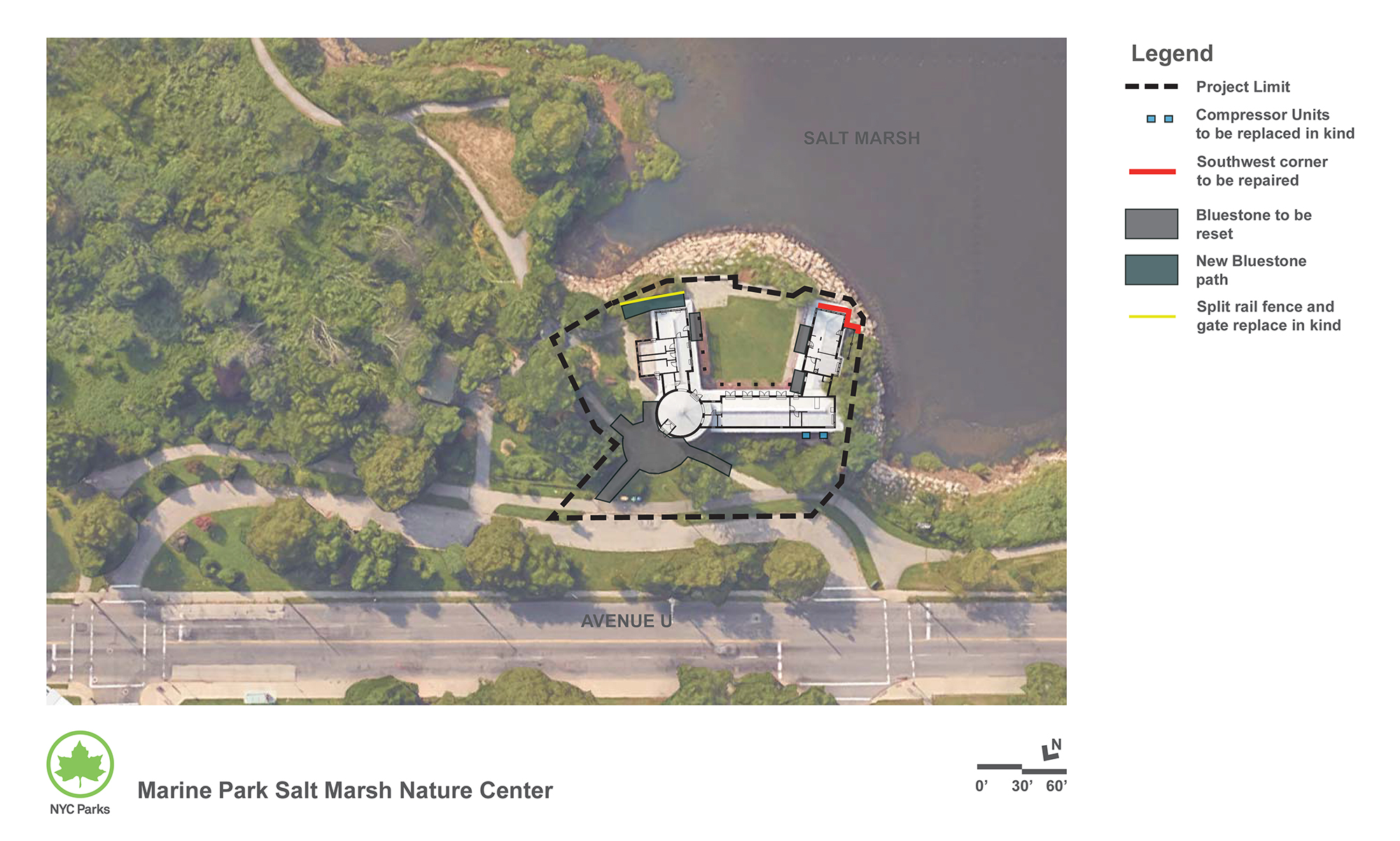 Design of Marine Park Salt Marsh Nature Center Reconstruction