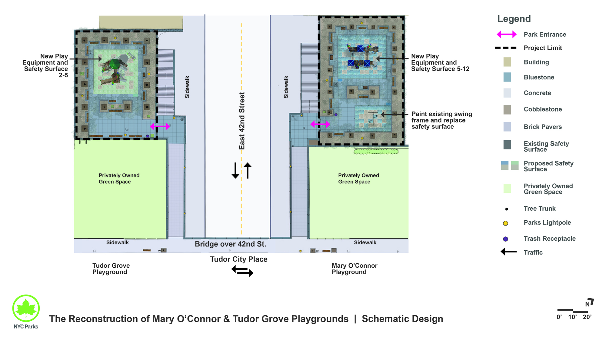 Design of Mary O'Connor and Tudor Grove Playground Reconstruction