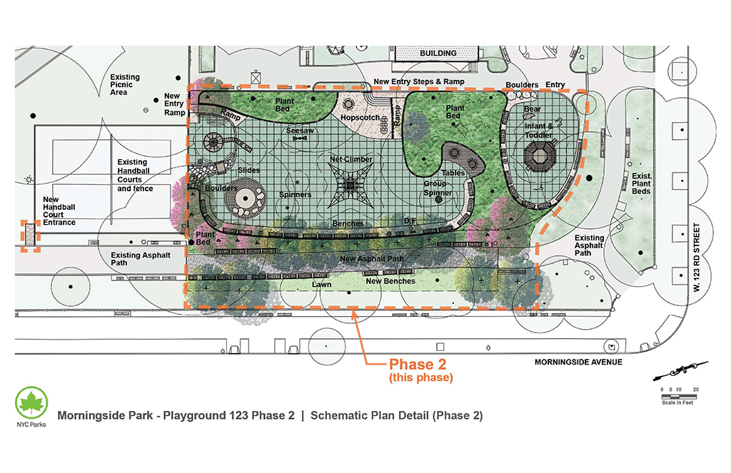 Design of Morningside Park 123rd Street Playground Reconstruction Phase 2