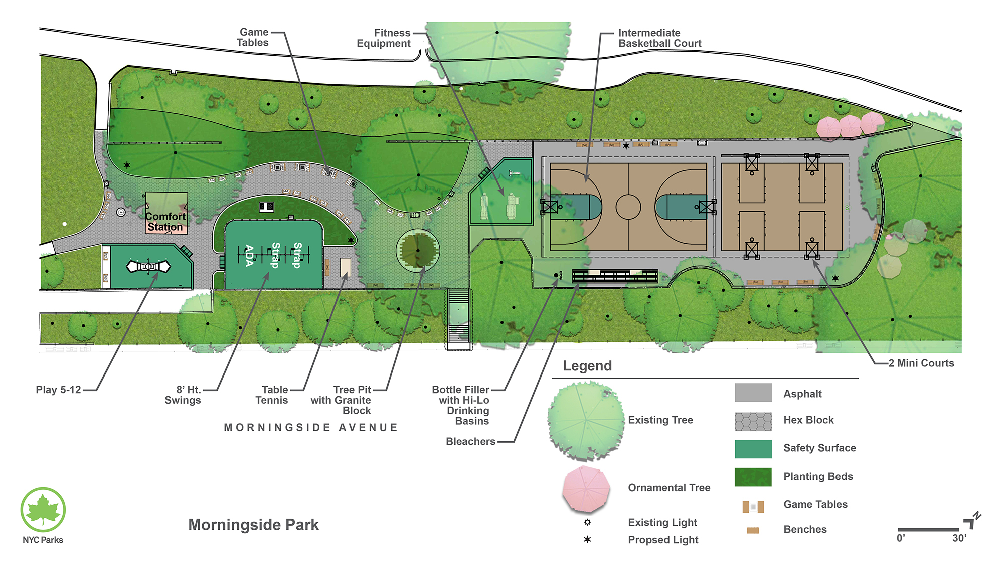 Design of Morningside Park Middle Playground and Basketball Courts Reconstruction