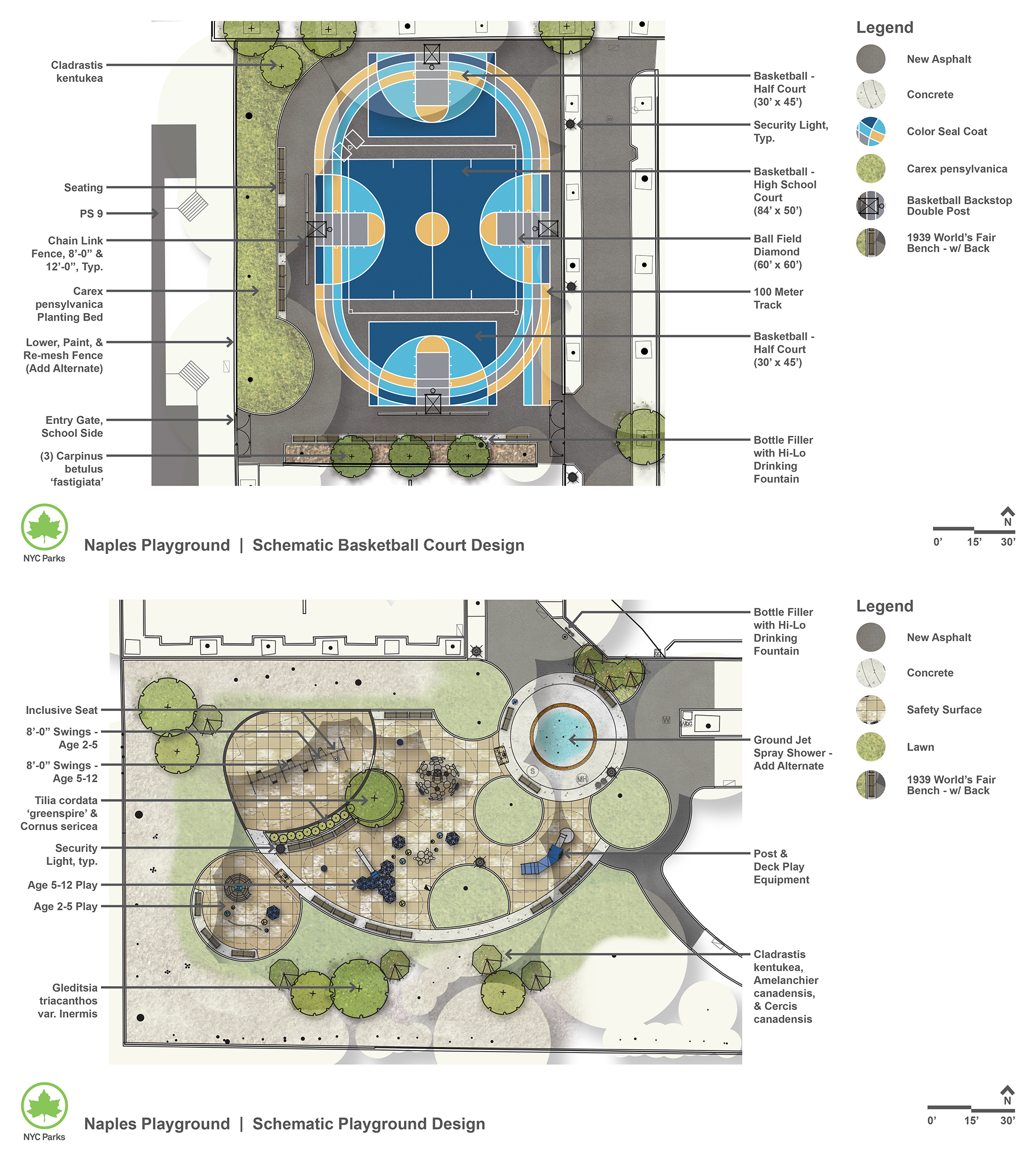 Design of Naples Playground Reconstruction