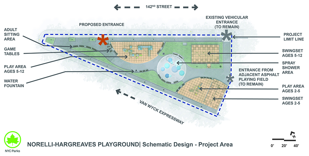 Design of Norelli-Hargreaves Playground Reconstruction