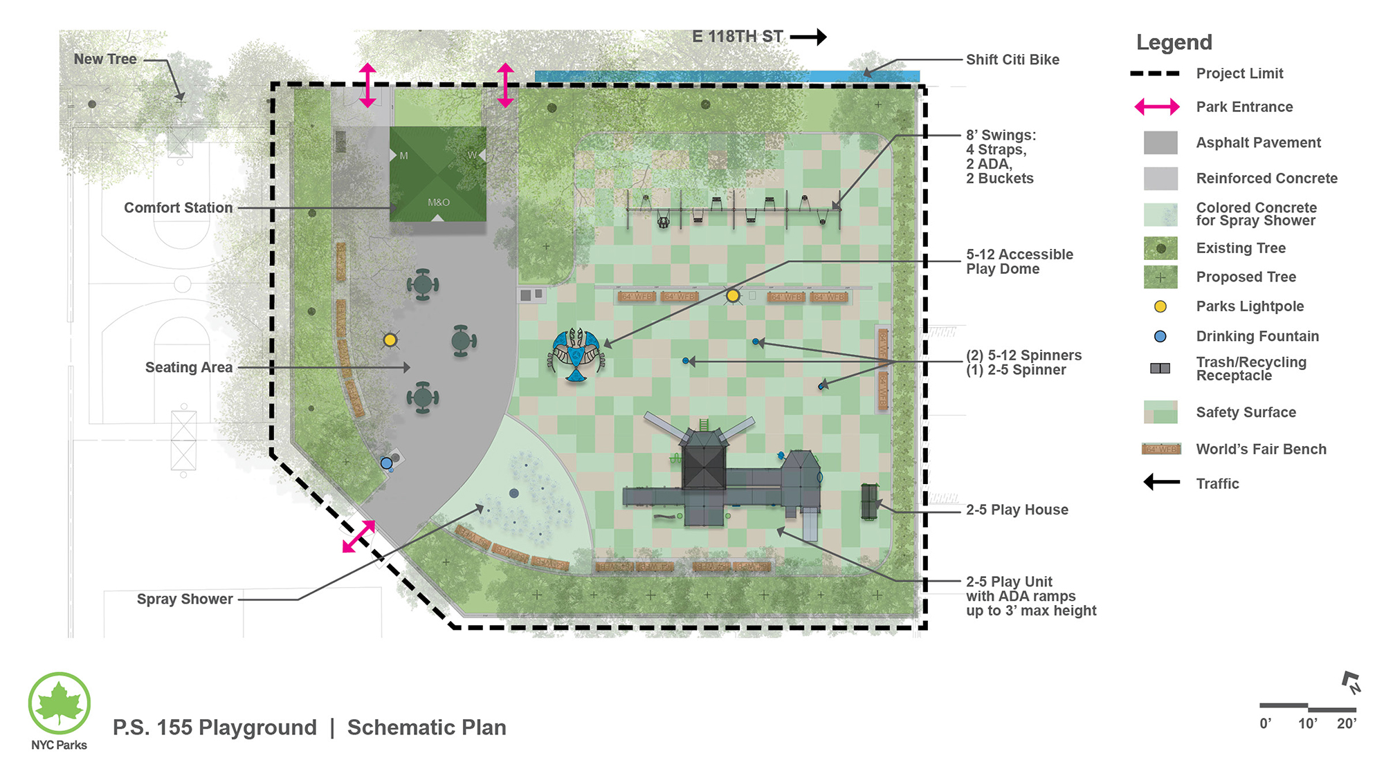 Design of P.S. 155 Playground Reconstruction