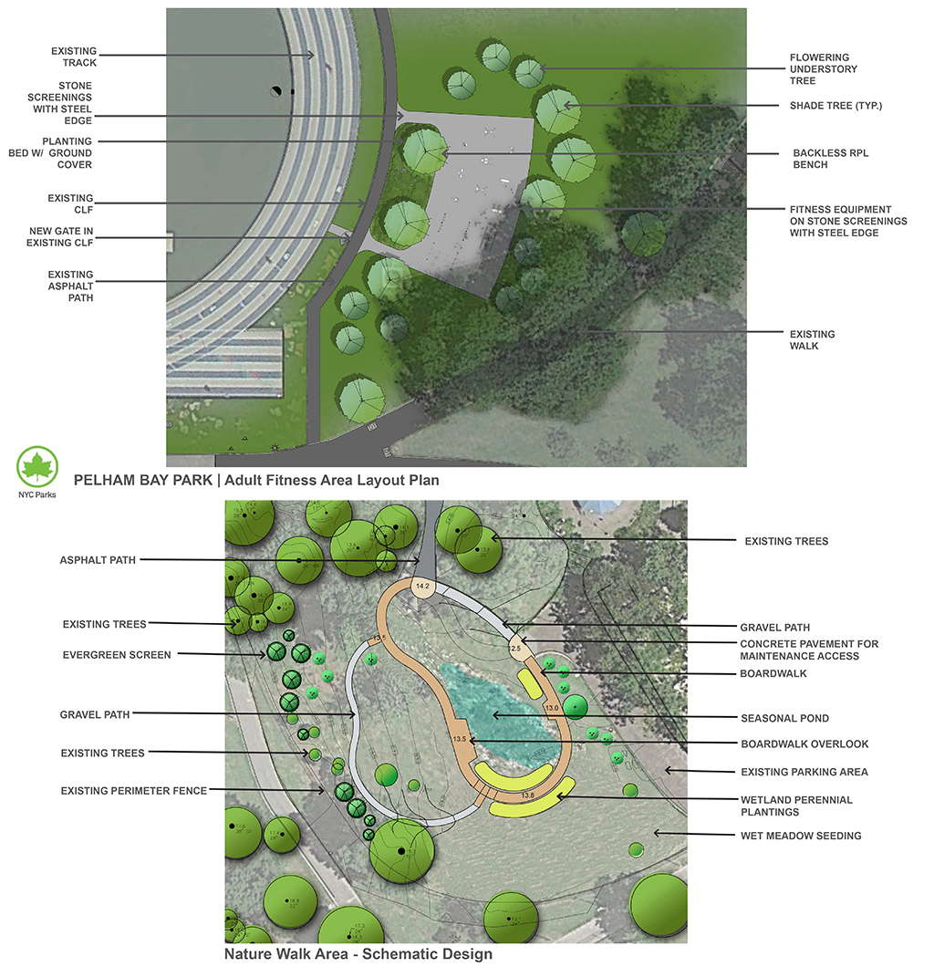 Design of Pelham Bay Park Adult Fitness Equipment and Nature Walk Construction