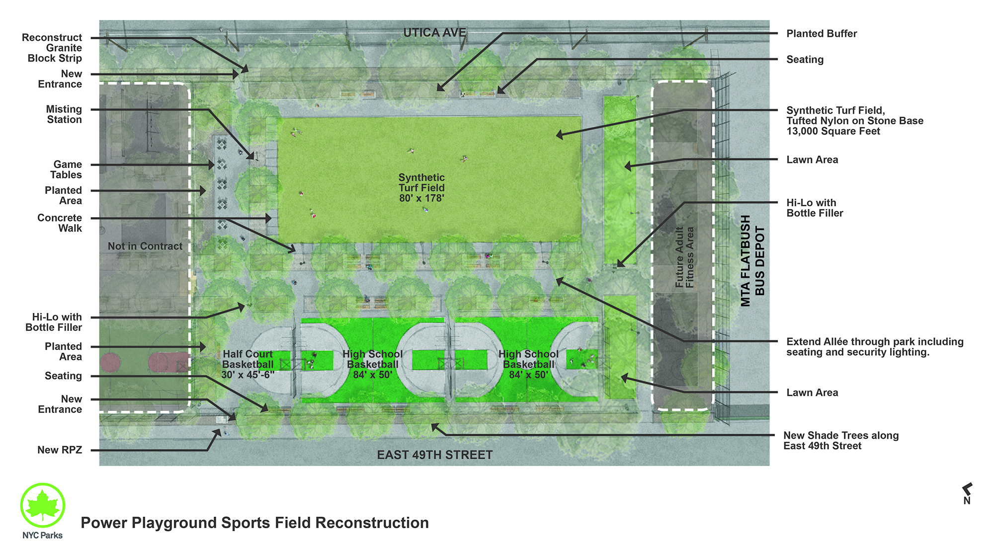 Design of Power Playground Multipurpose Play Area Reconstruction