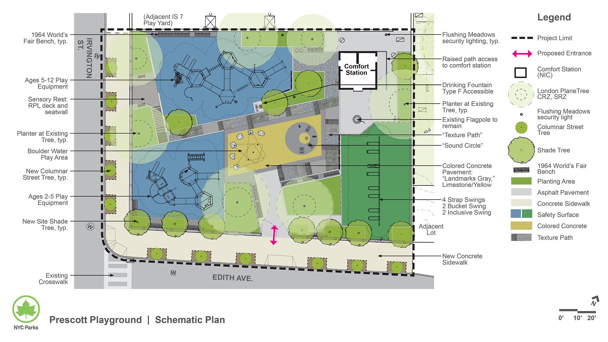 Design of Prescott Playground Reconstruction