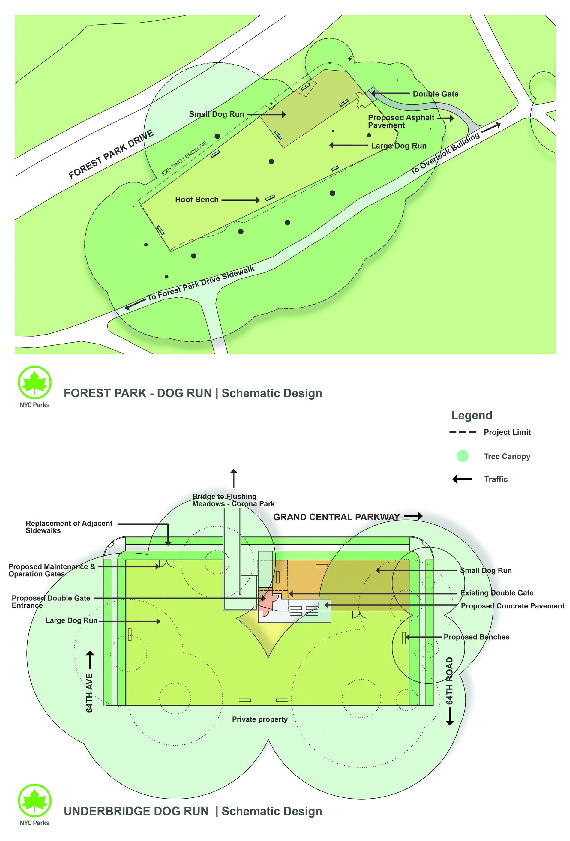Design of Underbridge Dog Run and Forest Park Overlook Dog Run Fencing Reconstruction