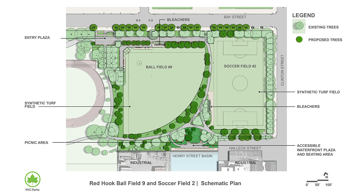 Design of Red Hook Recreation Area Ballfield 9 and Soccer Field 2 Reconstruction