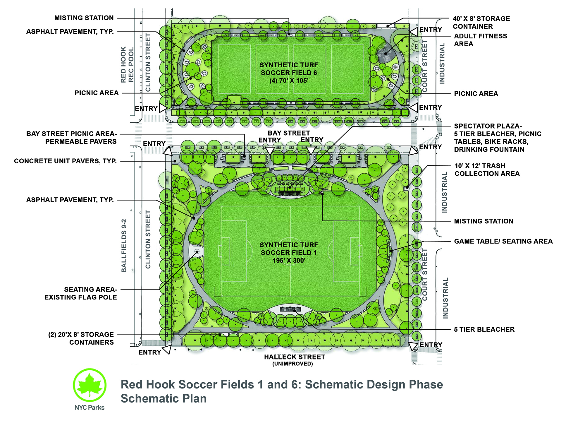 Design of Red Hook Recreation Area Soccer Fields 1 and 6 Reconstruction