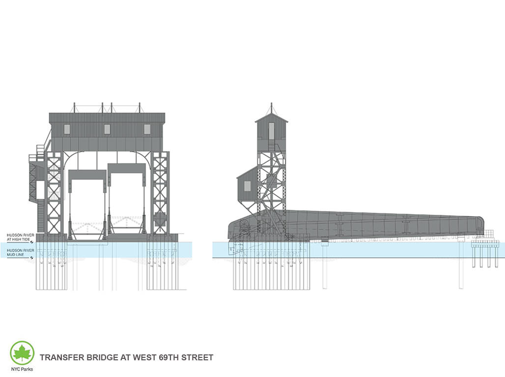 Design of Riverside Park South West 69th Street Transfer Bridge Reconstruction