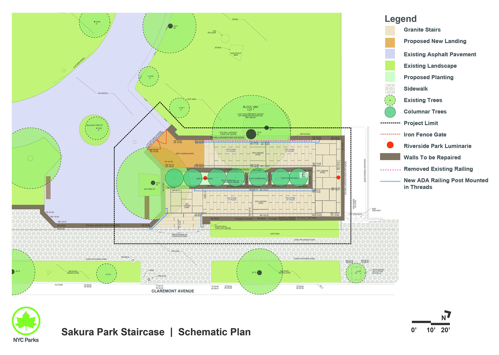 Design of Sakura Park Stairs Reconstruction