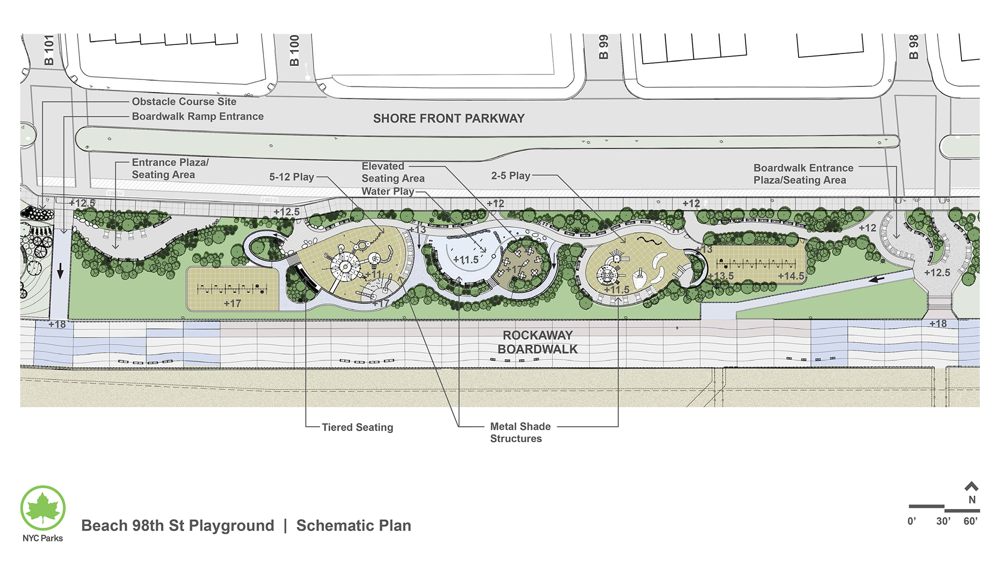 Design of Shore Front Parkway Beach 98th Playground Construction