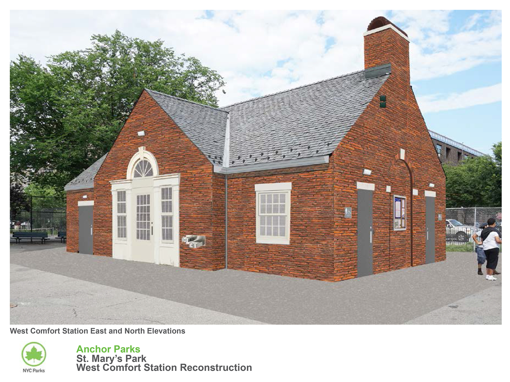 Design of St. Mary's Park Playground West Comfort Station Reconstruction