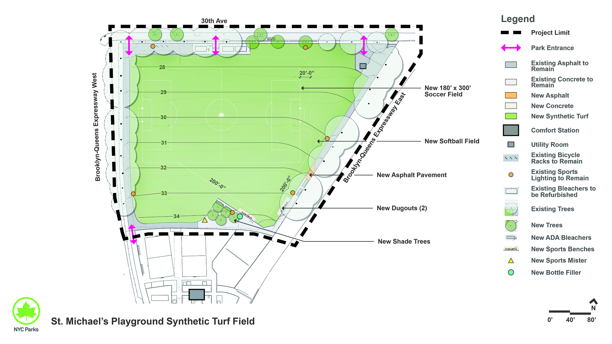 Design of St. Michael's Playground Synthetic Turf Field Reconstruction
