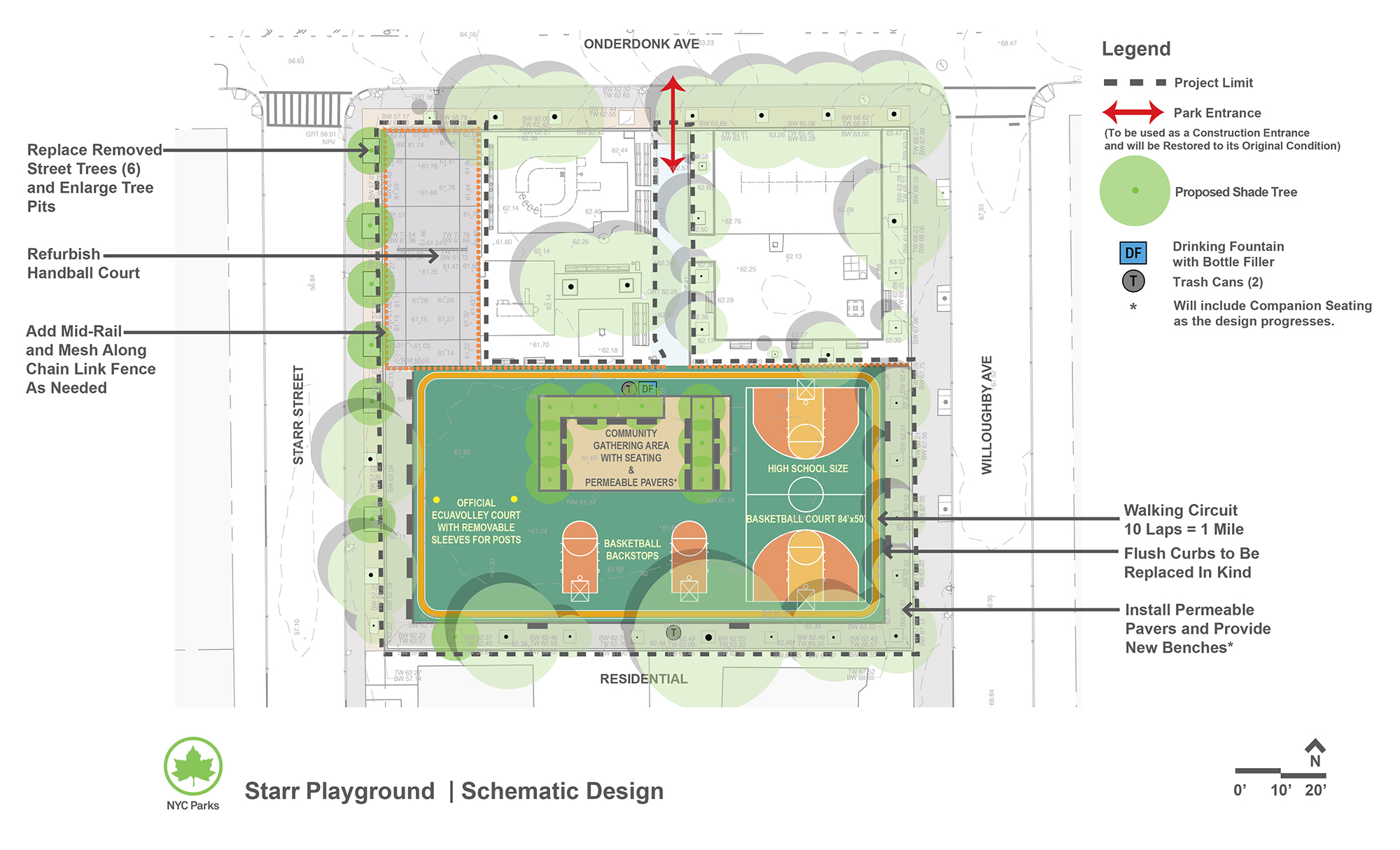 Design of Starr Playground Multi-Purpose Play Area and Handball Courts Reconstruction