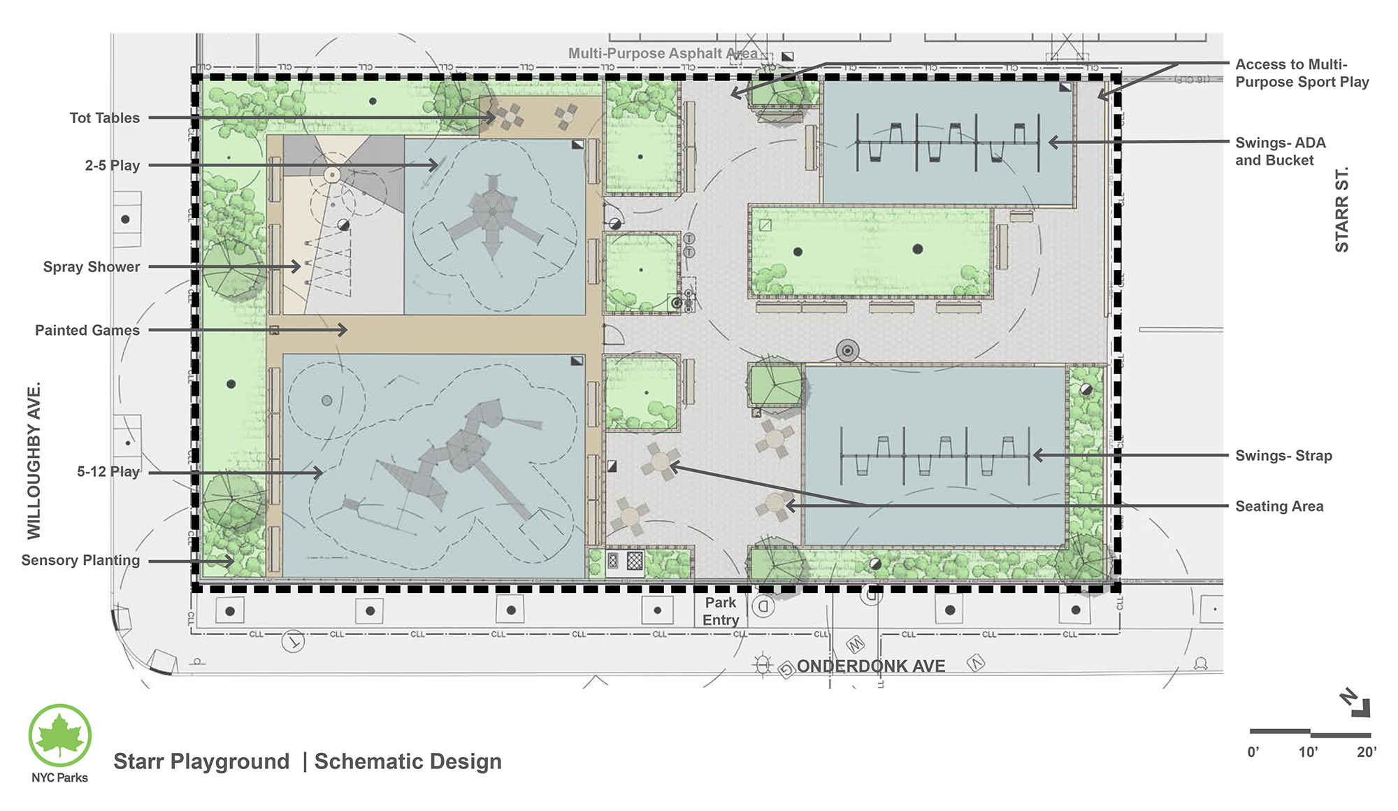 Design of Starr Playground Play Area and Spray Shower Reconstruction
