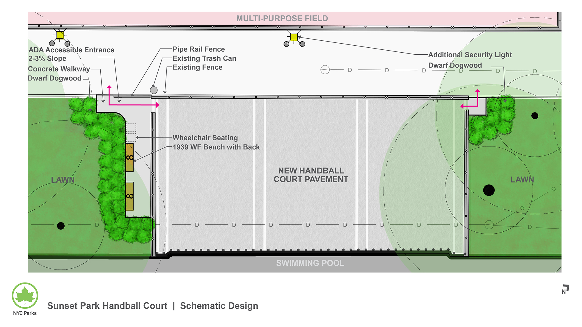 Design of Sunset Park Handball Court Reconstruction