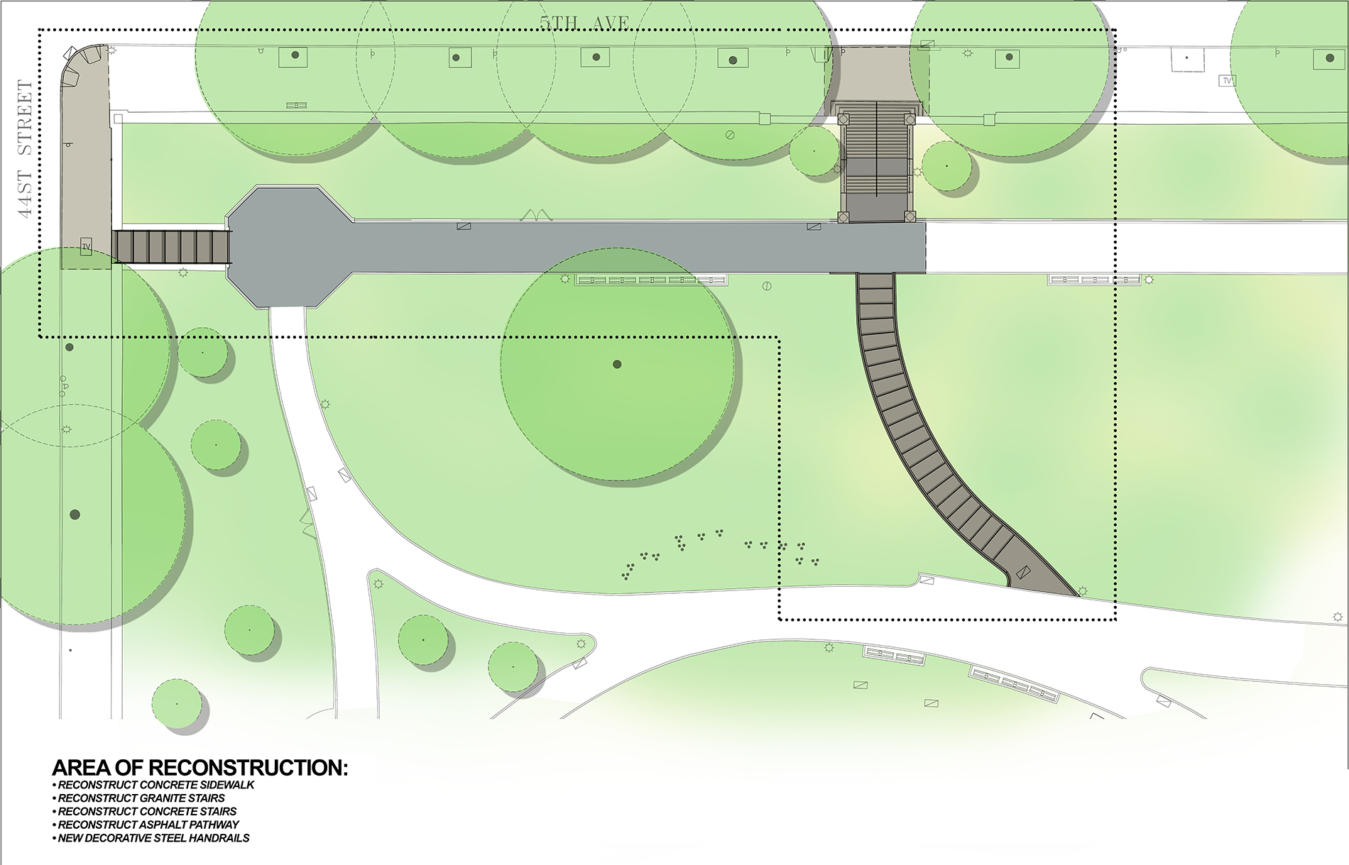 Design of Sunset Park Path Reconstruction