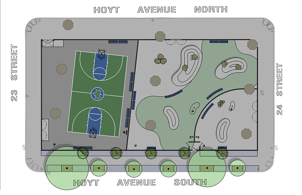 Design of Triborough Bridge Playground C Reconstruction