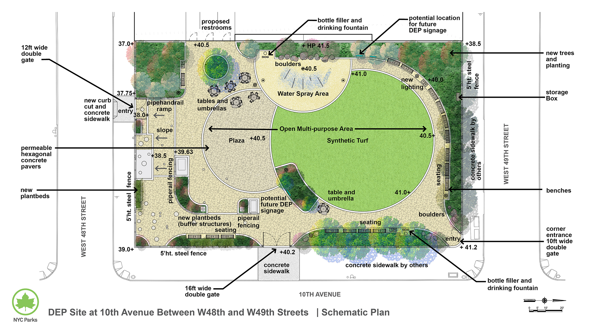 Design of West 48th Street & 10th Avenue (DEP Shaft Site 25B) New Park Construction