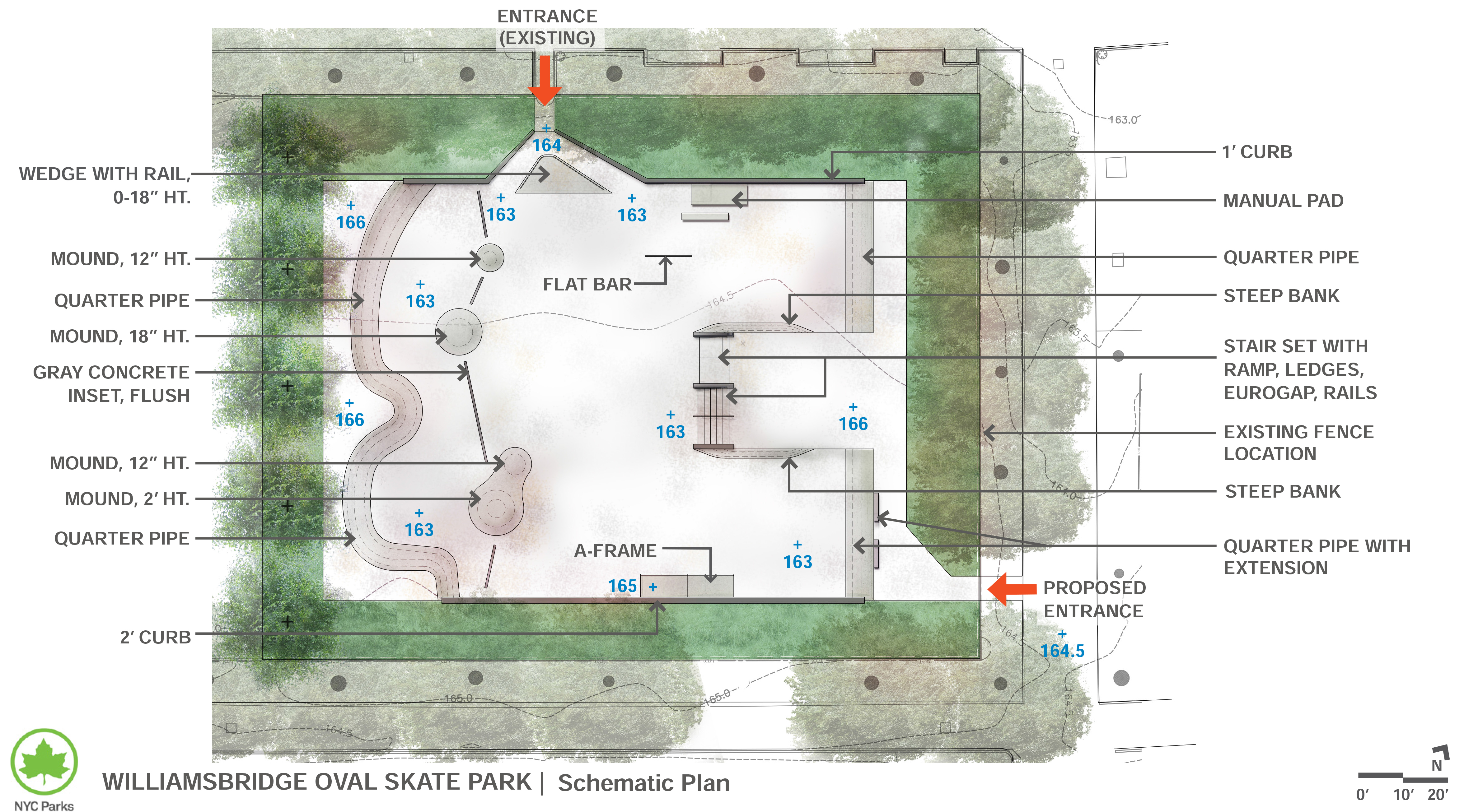 Design of Williamsbridge Oval Skate Park Construction