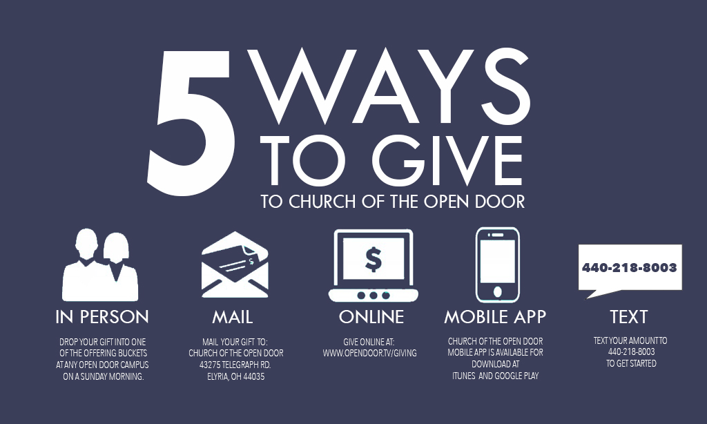 How to Give - Church of the Open Door