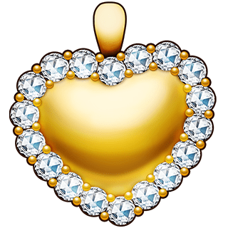 Diamond Encrusted Heart