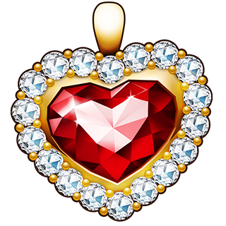 Diamond Encrusted Ruby