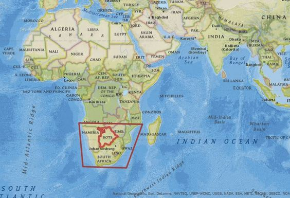 Kalahari Desert On World Map Traffic Club
