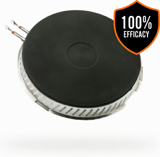 SmartBurner™ product with 100% efficacy badge