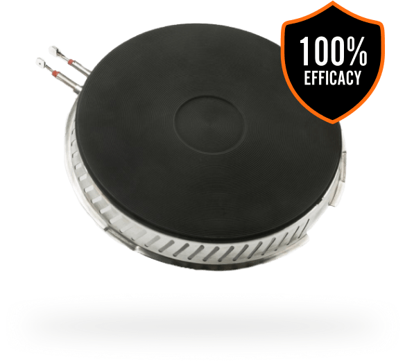 SmartBurner® stove fire prevention product with 100% efficacy badge